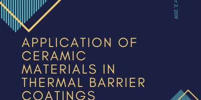 Application of Ceramic Materials in Thermal Barrier Coatings